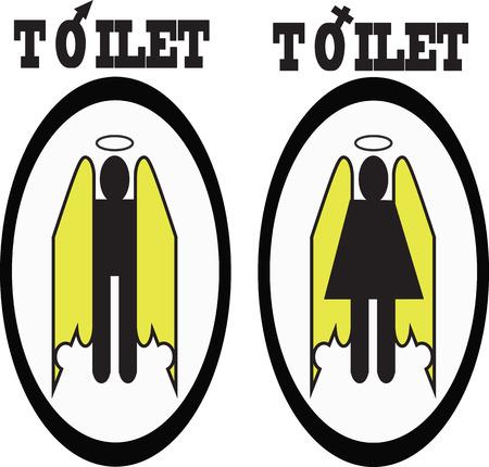 restroom sign: Restroom sign man woman Illustration