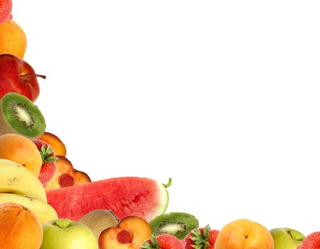 fruit collection isolated on white. photo