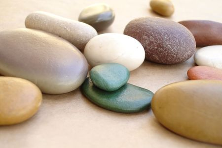 colorful pebbles                      photo