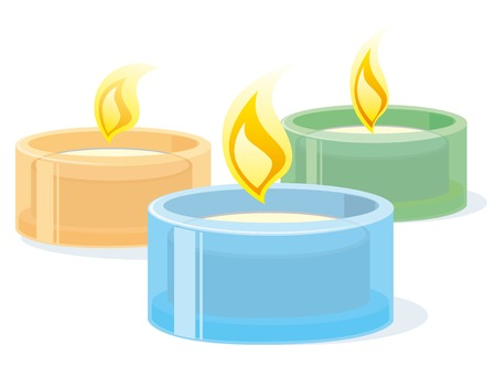 Spa candles Illustration