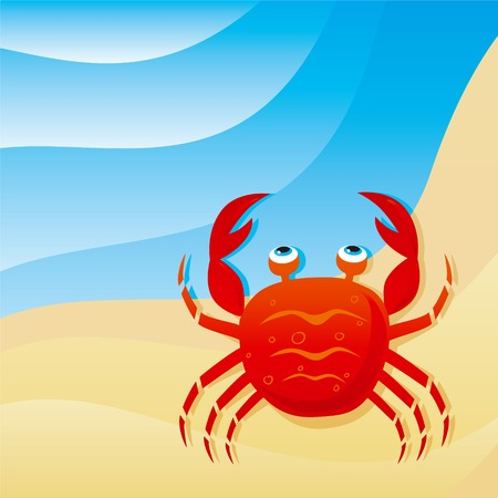 crawling animal: cute little crab