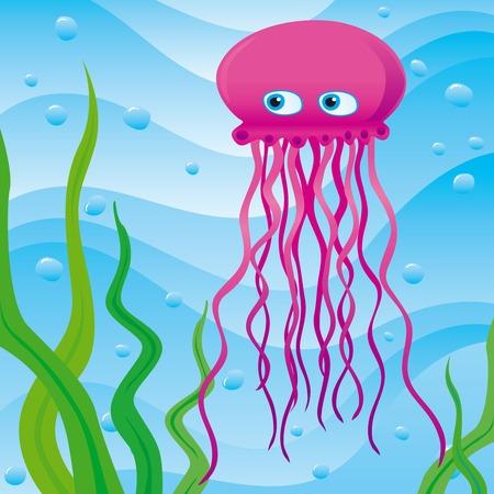 cute little jellyfish Vector