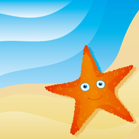 cute little starfish Vector