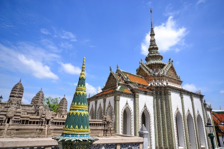 Thai architecture in royal temple photo