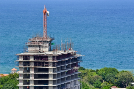 Construction site near sea photo