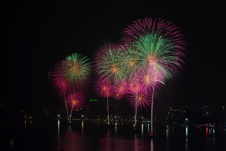 Colorful firework photo
