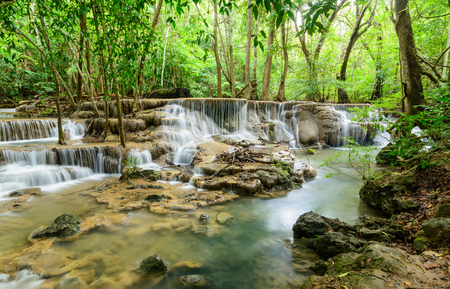 marvellous: Natural waterfall in tropical forest