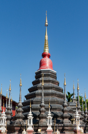 spiritual architecture: Ancient pagodas Stock Photo