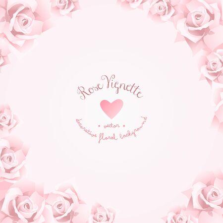 Decorative Romantic Floral Rose Wedding Vignette Background