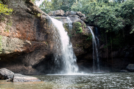 Haew Suwat Waterfall, Khaoyai National Park, Thailand photo