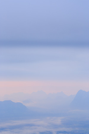 Mountains with evening light. photo