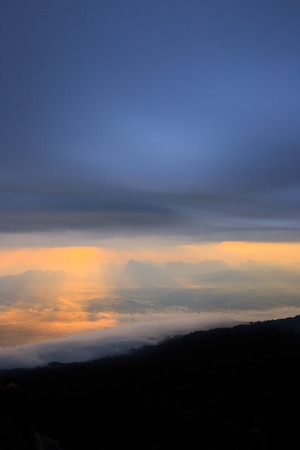 Mountains with ray of light. photo