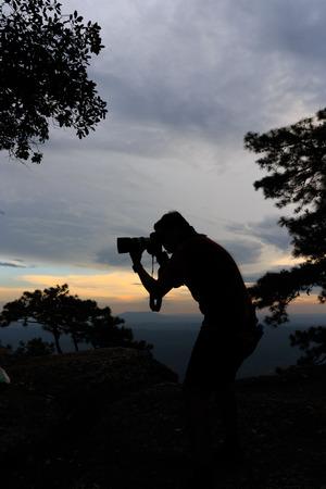 phukradueng: Sunset at Pha Lom Sak Cliff Phukradueng Nationalpark