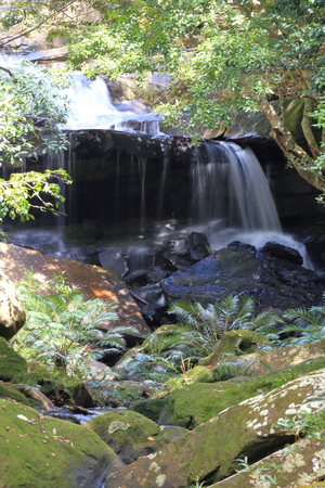 cataract falls: waterfall  Phu kradung National park, Thailand. Stock Photo