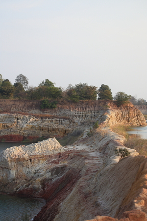 erosion: Erosion due to water erosion Stock Photo