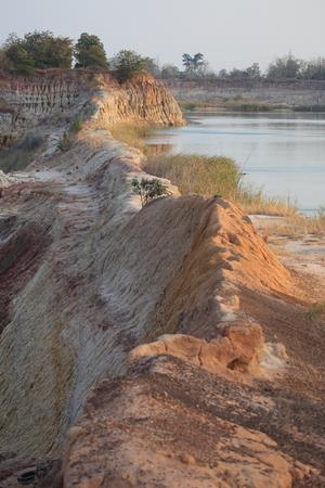 erosion: Erosion due to water erosion.