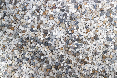 foundation cracks: Colorful small pebbles Stock Photo
