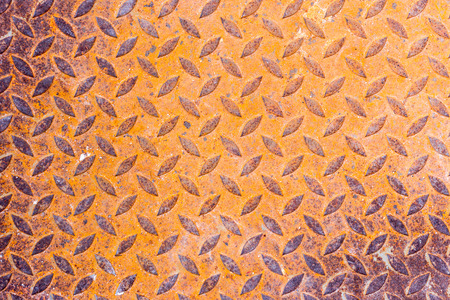 Surfaces metal floor sheet with rust. Stock Photo
