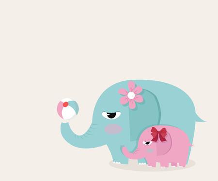 elephants with ball