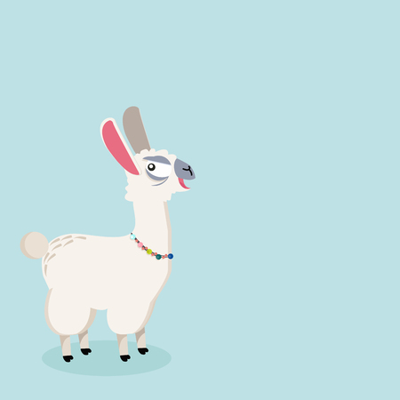 alpaca Funny animal Illustration