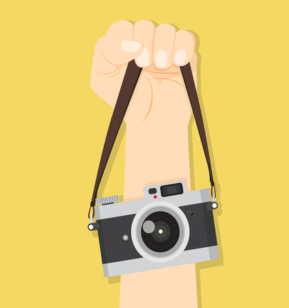 Camera hand straps vector illustration. Ilustrace