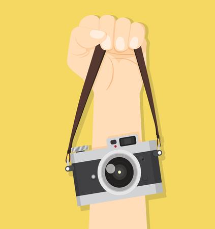 Camera hand straps vector illustration. Illustration