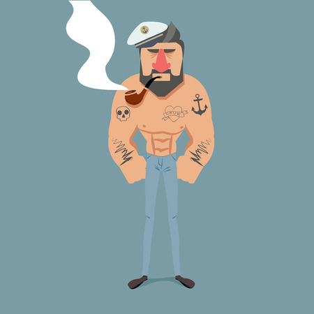Sailor with a pipe