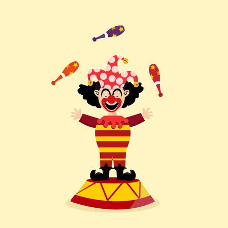 circus clown illustration