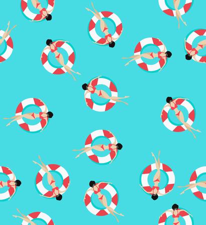 Schwimmen ringt Muster Standard-Bild - 82665435