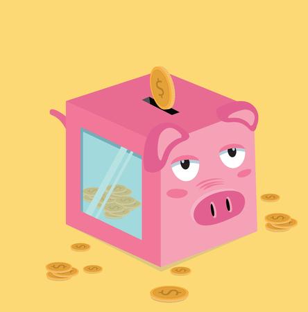 A Piggy Bank with coins