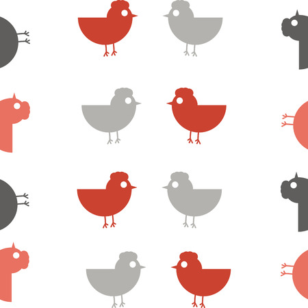 dingbats: Chicken  Pattern Design