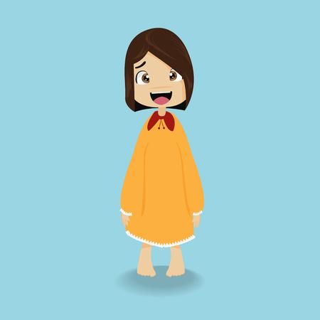Cute girl in the sleepwear Illustration