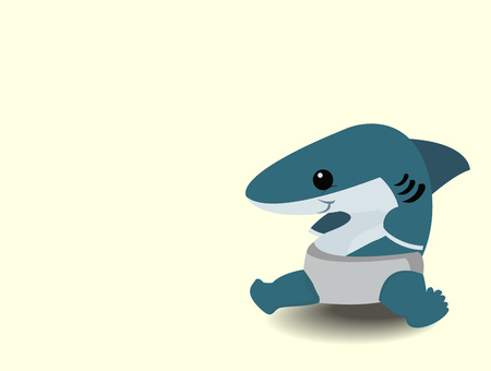 Cute cartoon baby shark