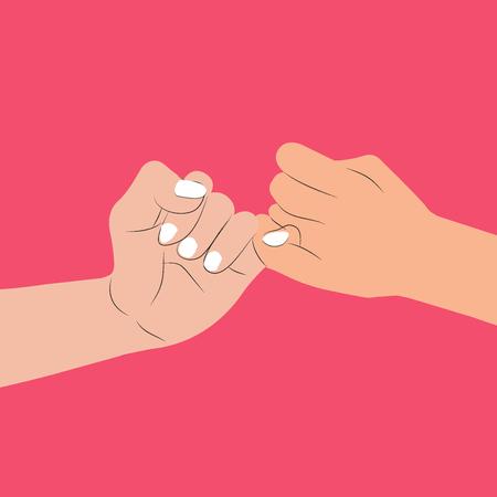 hand holding Pinky swear