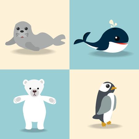 schattige Artic dierencollectie