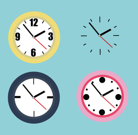 Collection of watches Illustration
