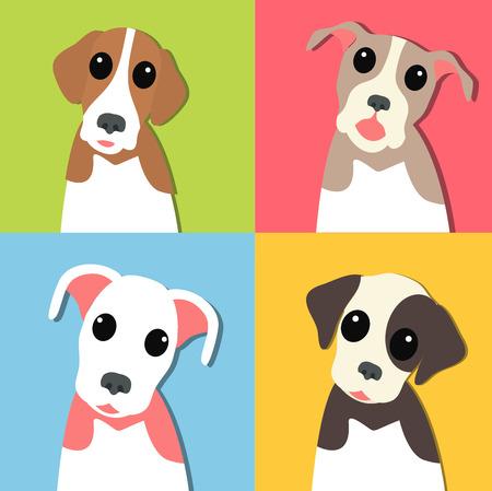 labrador: Funny pupply pack Illustration