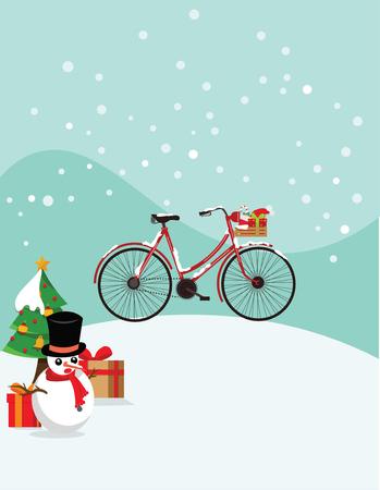 Christmas bicycle Illustration