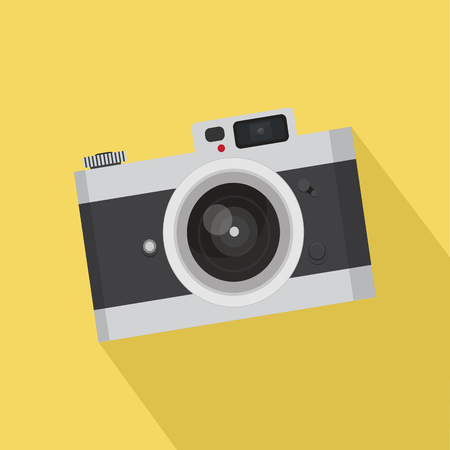 shutter: Flat vintage camera