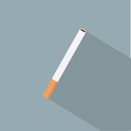 toxic substance: Cigarette icon illustration.