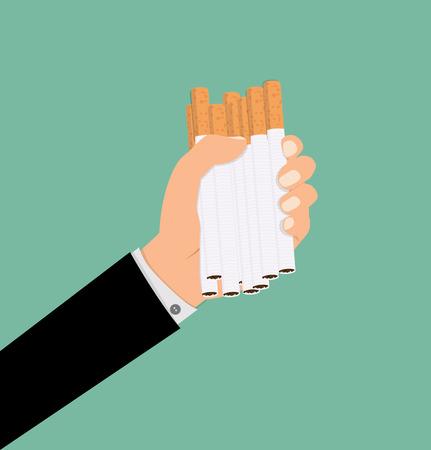Cigarette in hand illustration. Zdjęcie Seryjne - 83746117