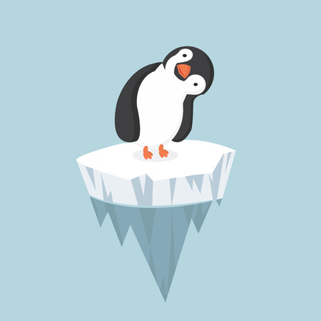 floe: penguin with ice floe Illustration