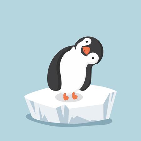 Pinguin auf Eisscholle Standard-Bild - 84518464