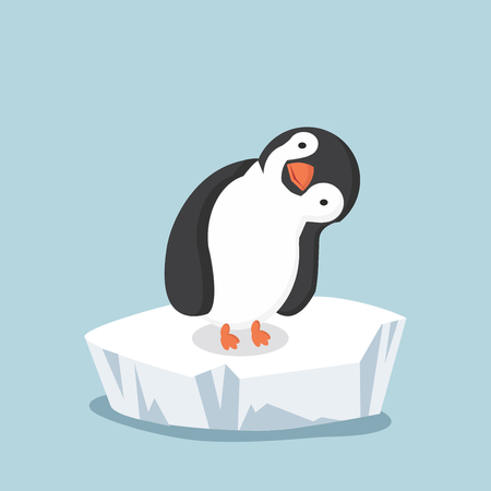 penguin on ice floe