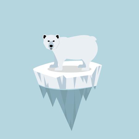 Polar bear with ice floe Illustration