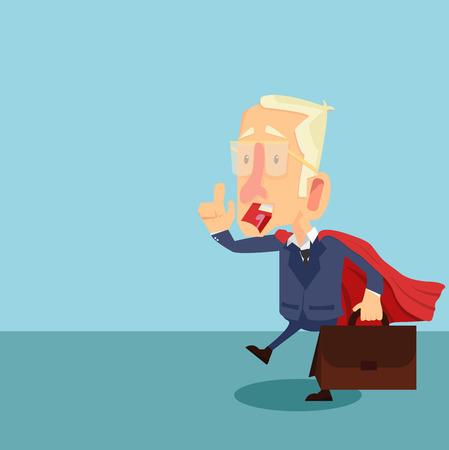 Superhero businessman cartoon