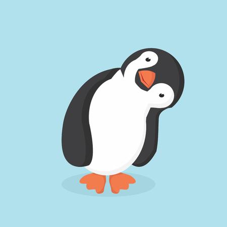 Cute Penguin dessin animé illustration vectorielle.