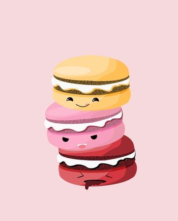 Macaroon Cookies Illustration