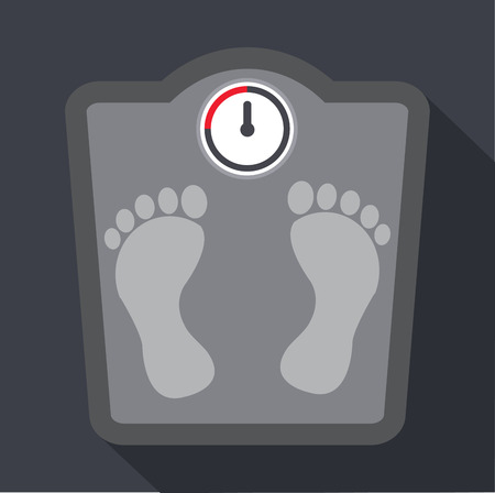 bathroom scale: Weight Scale icon Vector illustration.