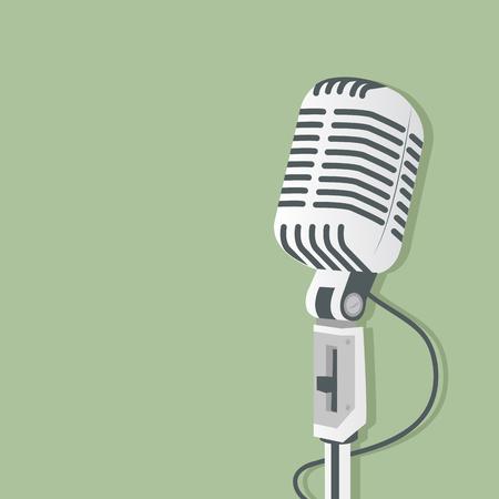 Retro microphone Vector illustration.